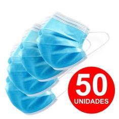 Imagem de 50 Unid Mascara De Proteção Descartável  Tnt Tripla Face