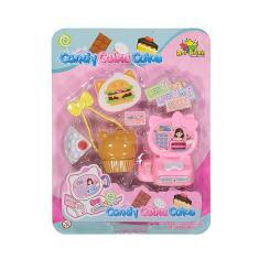 Imagem de Kit Mini Caixa Registradora Brinquedo Infantil Com Acessórios Mini Mercado Art Brink