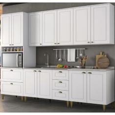 Imagem de Cozinha Completa 5 Gavetas 11 Portas sem Tampo Americana Henn