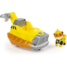 Imagem de Paw Patrol, Mighty Pups Charged Up Rubble's Deluxe Vehicle With Lights And Sounds, Multicolor