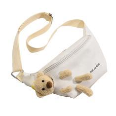 Imagem de Bonito Saco pequeno urso Feminino Peito Bag Harajuku Estudante Messenger Bag