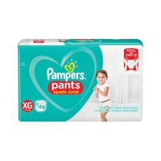 Fralda de Vestir Pampers Pants Ajuste Total Tamanho XG Hiper 46 Unidades Peso Indicado 11 - 15kg