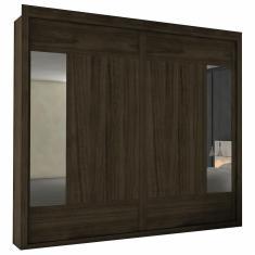 Guarda-Roupa Casal 2 Portas 6 Gavetas com Espelho Triunfo Flex Europa Móveis