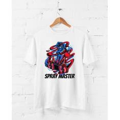 Imagem de Camiseta Skate - Spray Master - Grafite - Arte Urbana - Camisa Divertida e Engraçada (, P)