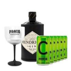 Imagem de Gin Hendrick's 750ml + 6 Citrus Prata 269ml + Taça