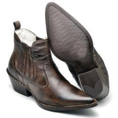 Imagem de Bota Country Masculina Bico Fino Top Franca Shoes Marrom