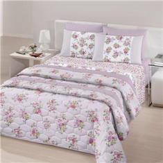 Imagem de Jogo de cama duplo queen linha Royal 100% algodão estampa Juliette - Santista