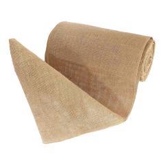 Imagem de Fita de rolo de serapilheira de 10 m, tecido de juta natural Fitas de artesanato para presentes de casamento de Natal Tecido de embalagem diy Tecido