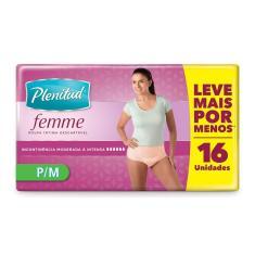 Imagem de Roupa Íntima Descartável Plenitud Femme Feminina P/M com 16 Unidades 16 Unidades