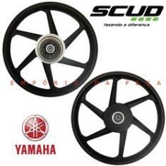 Imagem de Roda Liga Leve Scud Par Moto Yamaha Fazer 150 Factor 125/150 Freio a Disco
