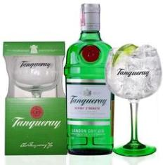 Gin Tanqueray 750ml com taça Tanqueray