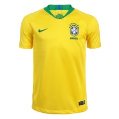 db00e7fad0 Camisa Infantil Brasil I 2018 19 com Nome e Número Torcedor Masculino Nike