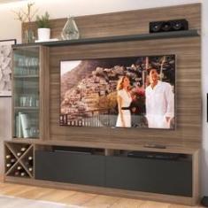 Imagem de Rack com Painel para TV Até 60 Polegadas 3 Portas Montana/Grafite 2020