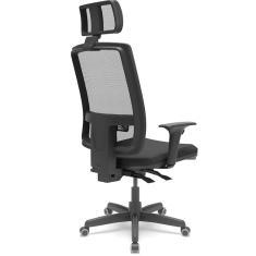 Cadeira de Escritório Presidente Brizza com Apoio de Cabeça Plaxmetal