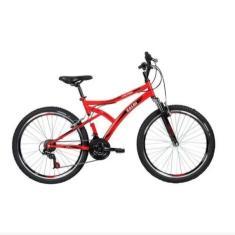Bicicleta Caloi 21 Marchas Aro 26 Suspensão Dianteira Freio V-Brake Alpes
