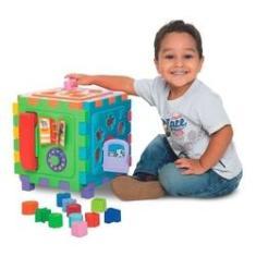 Imagem de Brinquedo Educativo Cubo Didático Grande - Mercotoys 417