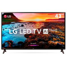 "Smart TV TV LED 43"" LG ThinQ AI Full HD HDR Netflix 43LK5750PSA 2 HDMI"