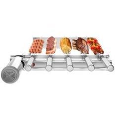 Imagem de Churrasqueira Inox Gira Grill SEVEFORT Kit Baixo 5 Espetos Giratórios p/ Pré Moldadas