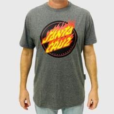 Imagem de Camiseta Santa Cruz Flaming Dot Front Chumbo Mescla