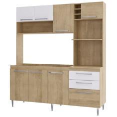 Cozinha Compacta 2 Gavetas 8 Portas para Micro-ondas / Forno Blume Casamia