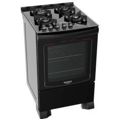Fogão de Piso Dako Turbo Glass 4 Bocas Acendimento Superautomático Grill
