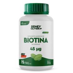 Biotina 75 Capsulas Sidney Oliveira