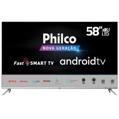 "Smart TV LED 58"" Philco 4K PTV58G71AGBLS 4 HDMI"