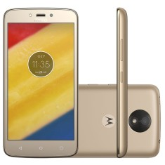 Smartphone Motorola Moto C C Plus XT1726 TV Digital 8GB MediaTek MT6737 8,0 MP 2 Chips Android 7.0 (Nougat) 3G 4G Wi-Fi