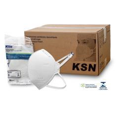Imagem de Kit 100 Máscaras N95 PFF2 Hospitalar Aprovação anvisa e inmetro Marca ksn