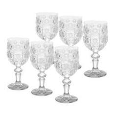 Imagem de Jogo 6 taças 210ml para vinho de vidro transparente Starry Bon Gourmet - 25819