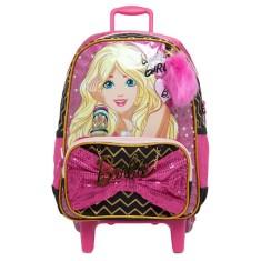 Mochila com Rodinhas Escolar Sestini Barbie Barbie 17Z G 64705