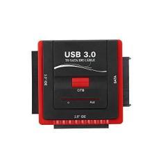 Conversor, Andoer Adaptador USB 3.0 para SATA/IDE Conversor de disco rígido para disco rígido universal 2,5/3,5 HDD/SSD com fonte de alimentação