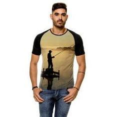 Imagem de Camiseta Raglan Pesca Esportiva Sunset Masculina
