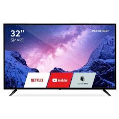 """Smart TV LED 32"""" Multilaser TL026 3 HDMI LAN (Rede)"""