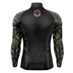 Imagem de Camisa Camiseta Pesca Com Proteção Solar UV50 Camuflada Militar - Play