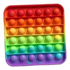 Imagem de Fidget Toys Hand Spinner Anti Stress Pop It Bolha Colorido - Quadrado