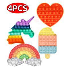 Imagem de 4Pcs Fidget Brinquedos Hand Spinner Pop It Anti Stress