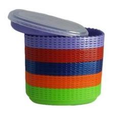 Imagem de Kit De 5 Mini Saladeira Oval 900ml - Vasilhas Plásticas