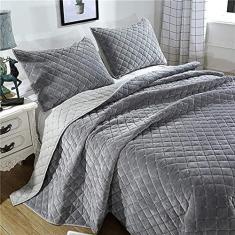 Imagem de dfff Colcha de colcha  lavável, colcha de pelúcia, conjunto de roupa de cama respirável e hipoalergênica