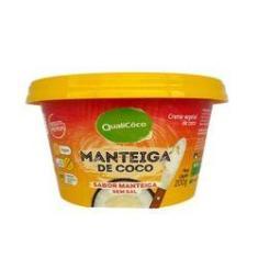 Imagem de Manteiga De Coco Qualicoco Sem Sal 200G