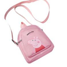 Imagem de Desenhos animados bonitos porquinhos femininos de lona bolsa crossbody bolsa moda feminina bolsa de viagem