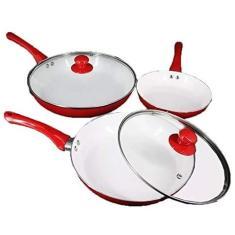 Imagem de Kit 3 Frigideiras Antiaderente Ceramica