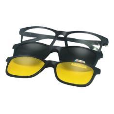 Imagem de Óculos De Sol Masculino Quadrado 3 Em 1 Troca Lentes Clap