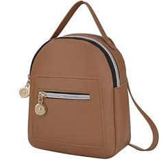 Imagem de Katyma Mini mochila feminina de couro pequena, mochila multifuncional, bolsa de verão com zíper, bolsa de ombro para mulheres, meninas, adolescentes, grils