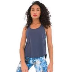 Imagem de Regata Feminina Fitness  Marinho Curta Ative