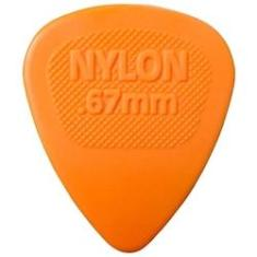 Palheta Jim Dunlop Nylon Midi 0.67 mm Laranjada