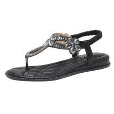 Imagem de Moda feminina feminina cristal floral sapatos casuais chinelos sandálias de salto baixo