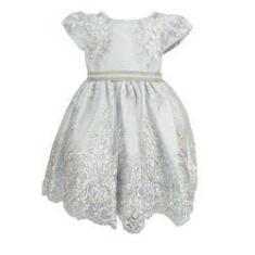 Imagem de Vestido de festa infantil batizado daminha realeza