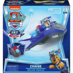 Imagem de Paw Patrol, Jet To The Rescue Chase's Deluxe Transforming Vehicle With Lights And Sounds, Amazon Exclusive
