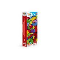 Imagem de Blocos De Montar Com 40 Bloquinhos Mini Maleta Tand Toyster